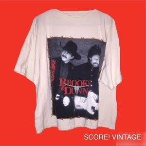 Other - Vintage Brooks and Dunn Tee (Almost Belly Tee)
